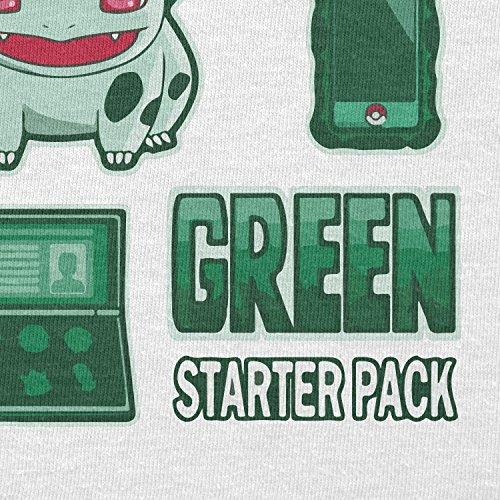 TEXLAB - Green Poke Pack - Herren T-Shirt Weiß