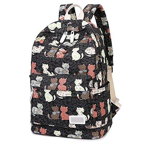 esther-belleza-gato-patron-bolsa-de-hombro-lienzo-mochila-mochila-de-viaje-mochila-para-las-ninas-ad