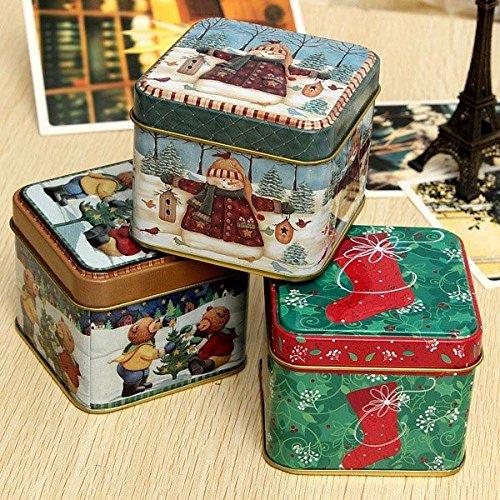 Bazaar Weihnachten Muster Tee Kaffee Dose können Geschenk Candy Aufbewahrungsbox
