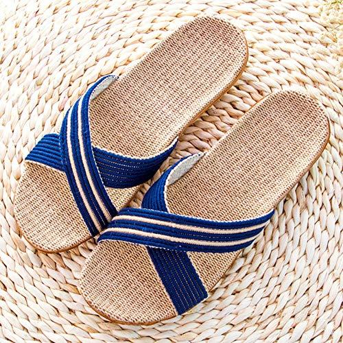 d6b7b004f3c QIMITE Tongs Chaussures Sandales Plates Pantoufles Été Été Home Skate  Pantoufles Home Family Stripe Plat Salle