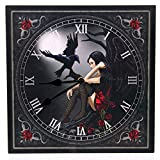 Puckator Clock - Dark Angel with Raven