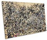 Impression sur Toile Geeks Tableau sur Toile Jackson Pollock 1948Unique, 120cm Wide x 80cm High