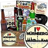 I love Nürnberg | Geschenk Männer | Geschenk Box | I love Nürnberg | Männer Set | Geschenke für Nürnberg Liebhaber | Nürnberg Geburtstag Geschenk | inkl. DDR Kochbuch