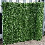 True Products Evergreen 1x 3m artificiel haie de conifères Plastique Clôture de jardin de dépistage de confidentialité-Vert