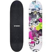 ENKEEO Skateboard Complet Planche à roulettes ABEC-9 Table en Bois d'Érable 9 Plis, avec Roue PU pour Les Jeunes Adultes Débutant et Professionnels Plusieur Couleurs à Choix