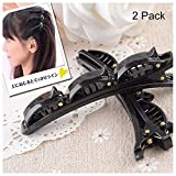 Travelmall Bobby pin Bangs forcina pettine parrucchieri strumento per barrette DIY Hair styling 2PCS