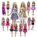 Miunana 12 Jolies Robes De Livraison Aléatoire Pour Barbie Poupée