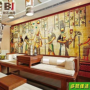 Aolomp Wallpaper Custom Retro Grandes Murales Personas Faraón De Egipto Wallpaper Ktv Bar Cafetería Pirámide Papel Tapiz Personalizado 5