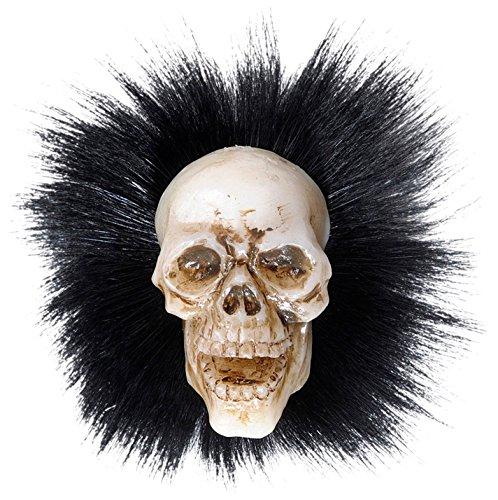 WIDMANN vd-wdm5341h Brosche Skull mit Federn, weiß, Einheitsgröße