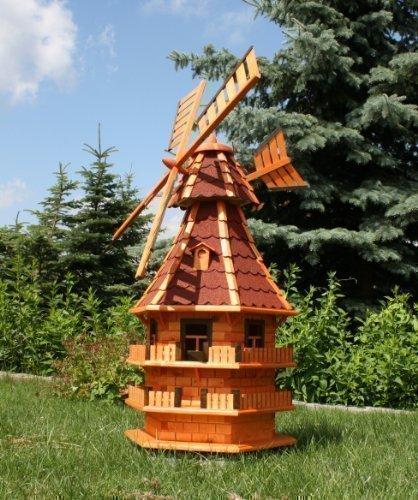 Rießige XXL Windmühle mit Solar