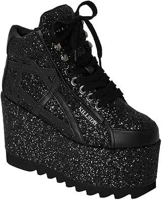 Killstar Plateauschuhe Malice Glitter Platform Sneakers