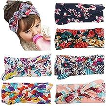 kamoku101Kid bebé niña Bohemia pañuelo en la cabeza diadema Headwear banda de pelo arco accesorios (color blanco)