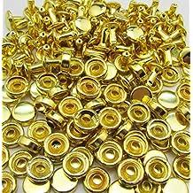 Doble de remaches ciegos gorra Amanteao dorado de alta Terrace gorra 6 mm y poste de 6 mm unidades 100 para dardos