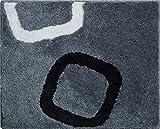 Grund Badteppich 100% Polyacryl, ultra soft, rutschfest, ÖKO-TEX-zertifiziert, 5 Jahre Garantie, AROLO, WC-Vorlage o.A. 50x60 cm, grau