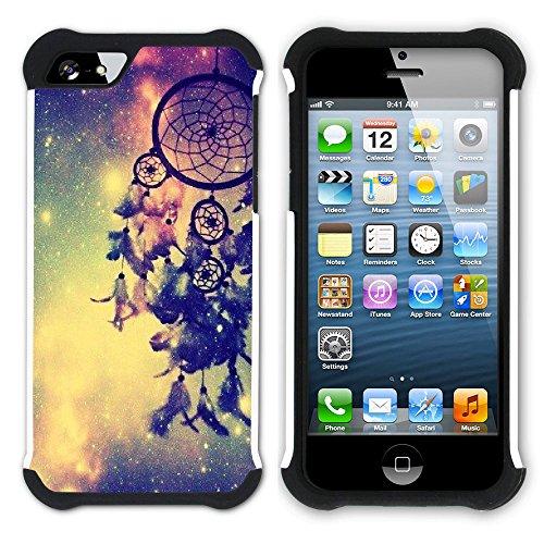 Graphic4You Traumfänger Indisch Einheimisch Hart + Weiche Kratzfeste Hülle Case Schale Tasche Schutzhülle für Apple iPhone SE / 5 / 5S Design #4