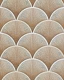 Retro Tapete EDEM 1030-11 Vinyltapete geprägt mit grafischem Muster glitzernd creme weiß bronze 5,33 m2