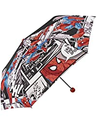 Perletti - Paraguas mini para niño Ultimate Spiderman Marvel - plegable y antiviento - Manual