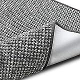 casa pura Teppich Grandeur | Pflegeleichtes Bouclé | viele Größen | für Flur, Wohnzimmer, Esszimmer, Küche, Schlafzimmer, Büro | gekettelt (Grau - 66x130 cm)