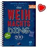 Das Weihnachts Ding mit Noten - Kultliederbuch von Bernhard Bitzel und Andreas Lutz - Weihnachtsliederbuch mit bunter herzförmiger Notenklammer