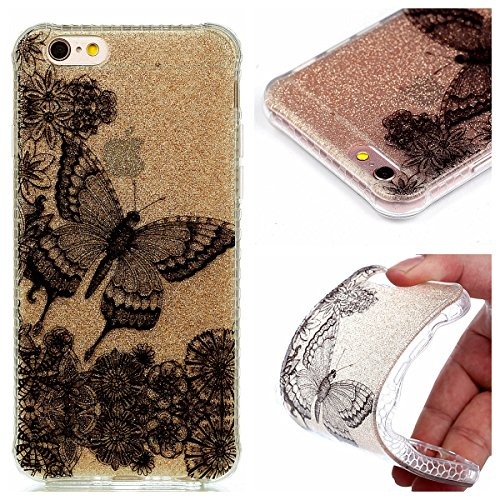 Voguecase® für Apple iPhone 7 Plus 5.5 hülle, Schutzhülle / Case / Cover / Hülle / TPU Gel Skin (Rot Fuchs 02) + Gratis Universal Eingabestift Schwarzer Schmetterling 01