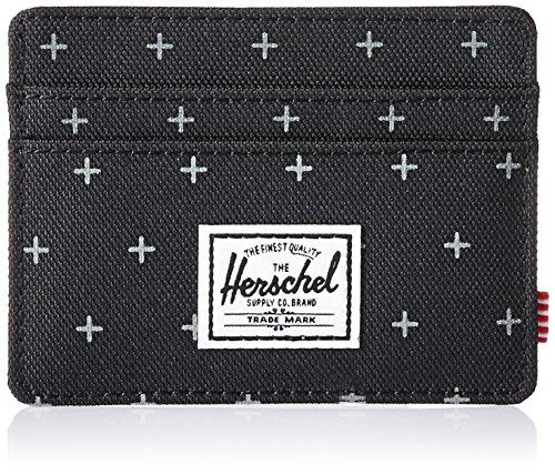 Herschel Supply Co. Men's Charlie Card Holder RFID Block Wallet GRDLCK Black Marilyn Monroe Geldbörse Für Männer