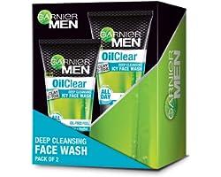 Garnier Men Oil Clear Deep Cleansing Icy Facewash, 200g (Pack of 2)