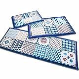 Fashion·LIFE Moderner Microfaser Rutschfest Waschbare Fußmatte Duschvorleger Küchenteppich Wohnzimmer Weiche Teppiche Boden Matte