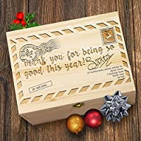 TWISTED ENVY Vintage Christmas Letter Personalised Christmas Wooden Engraved Box