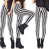 FYMNSI Leggings da donna a righe verticali elasticizzati, leggings a strisce, sottili e elasticizzati, per yoga, corsa, fitne