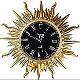 HCJGZ JCRNJSB® Kreative moderne einfache mode sonne harz wanduhr, wohnzimmer kreative uhr persönlichkeit stille uhr 65x65cm Wandhalterung Uhren Wanduhren Quarzuhr (Farbe : #1)