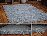 AHOC GREY DENSE THICK LUXURY SHAGGY RUG SMALL MEDIUM LARGE RUNNER 5 CM QUALITY RUGS (160x230cm (5'3 x 7'7))