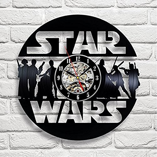 Schön Star Wars Art Vinyl Wall Clock Kinderzimmer Geschenk Modern Home  Registrierung Dekoration Vintage (Haushaltswaren)