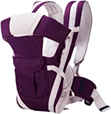 Golden Feather adjustable hand free 4 in 1 Carrier Bag Baby Carrier   hand free baby carrier   baby sling   With Waist Belt (Purple)