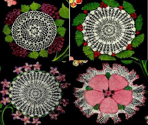Flores y frutas ganchillo tapetitos parte uno