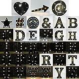 "Generic Letter I : Black 12"" LED Vintage Letter Light Circus Style Alphabet Light Up A - Z PICK"