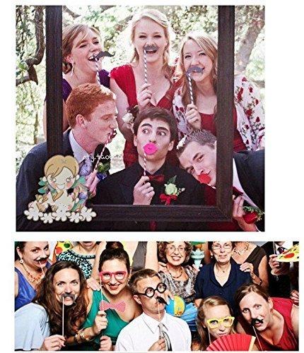 Imagen de jzk® 25 x photo booth photocall photo booth con accesorios decoracion con un marco para boda baby shower cumpleaños navidad halloween año nuevo y otro diferentes ocasiones alternativa