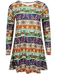 Lush Clothing Women's Long Sleeve Christmas Dress Uk 16-18 Xmas Wrapping