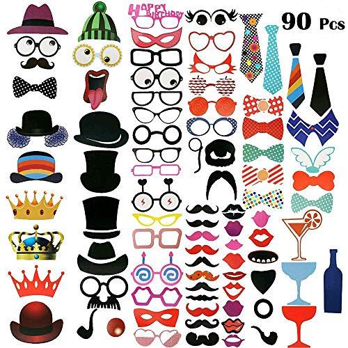 Dimoxii Foto Booth, Foto Requisiten Set für Halloween, Hochzeit, Abschlussfeier Oder Jede Andere Party Dekoration (Geburtstag)
