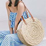 onemoret rund Stroh Staubbeutel Moroccan Palm Korb Tasche Damen Hand Woven Beach Bag Natural Oval groß Big Tote Circle Handtasche streckengeschäft