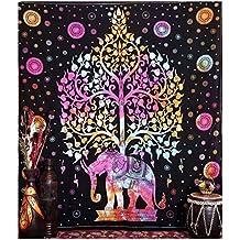 Elefante Tapices, Hippie Tapestry, Árbol de la vida tapices, tapices, Bohemian tapices de pared, indio tapiz colgar en la pared