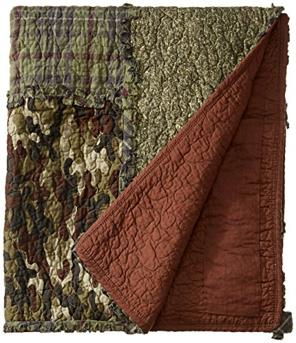 Donna Sharp Werfen, braun/Forest Grün/Schwarz/Camo Print, 127x 152,4cm - Donna Werfen