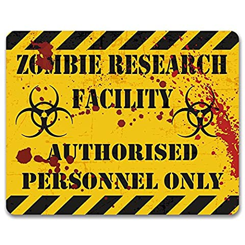 Zombie Research Facility - Metal Door or Wall Sign / Plaque