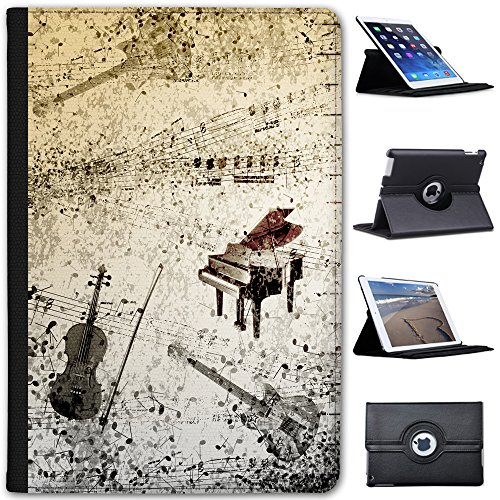 Fancy A Snuggle Grunge Noten Klavier Gitarre Geige Case Cover/Folio aus Kunstleder für Das Apple iPad Mini 4