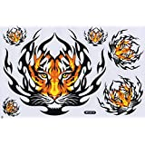 Tiger Tigre STICKER Tuning Racing Motocross Autocollant feuille 27 x 18 cm