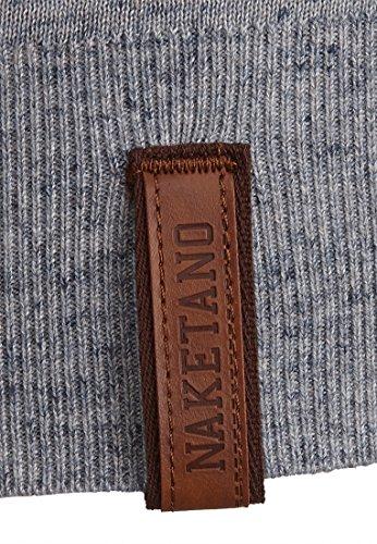 Naketano Male Knit Dicke Rüssel Vaseline Natural Bluegrey Melange
