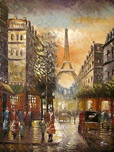 paris-in-farbe-groe-kunst-l-auf-leinwand-gemlde-hervorragende-qualitt-und-handwerkskunst-handgeferti