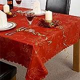 Linens Limited Angelica - Tischläufer für Weihnachten - Rot - 33 x 229 cm