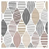 murando - Vlies Tapete beige grau weiß - Deko Panel Fototapete Wandtapete Wand Deko 10 m Tapetenrolle Mustertapete Wandtapete modern design Dekoration - geometrisch f-B-0208-j-a
