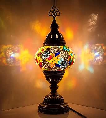 Mosaic Lamp Handmade Turkish Mosaic Table Lamp with