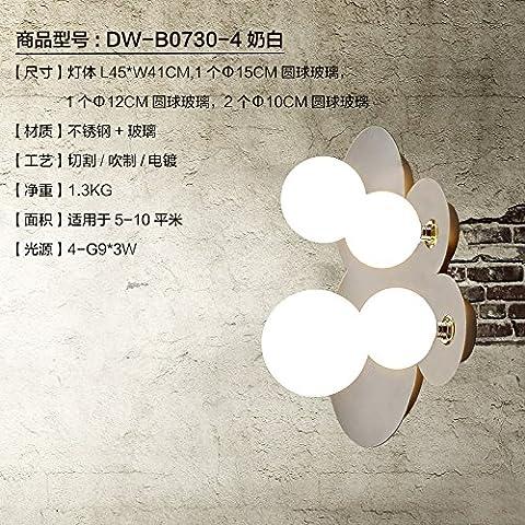 midtawer Nubes de acero inoxidable elegante y sencillo y cálido apliques creativo ,DW-B0730-4 Crema